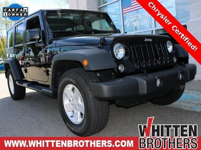 Certified Pre Owned 2017 Jeep Wrangler Unlimited Sport S